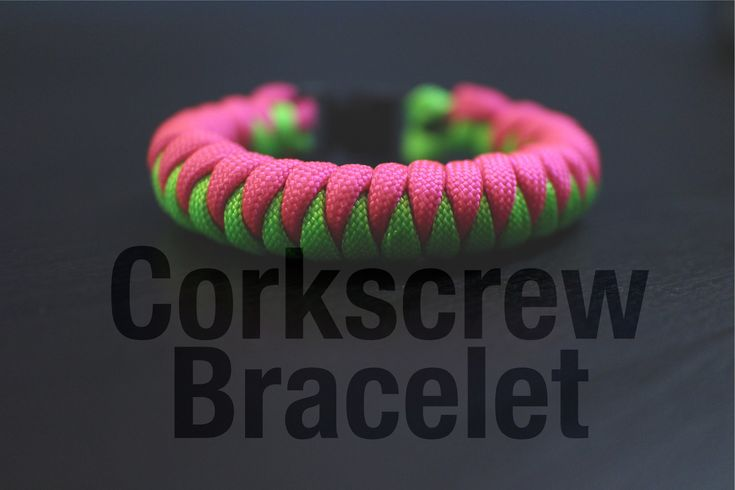How To Make A Super Easy Corkscrew Paracord Bracelet