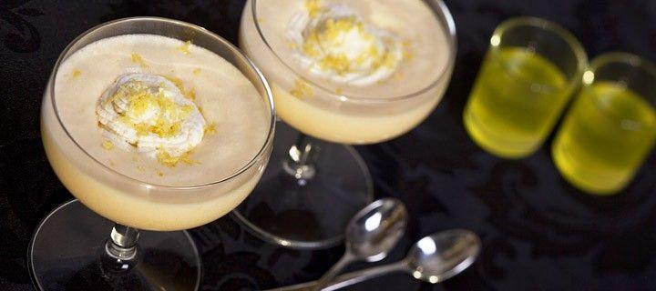 Heerlijk luchtig Italiaans dessert met limoncello en citroen