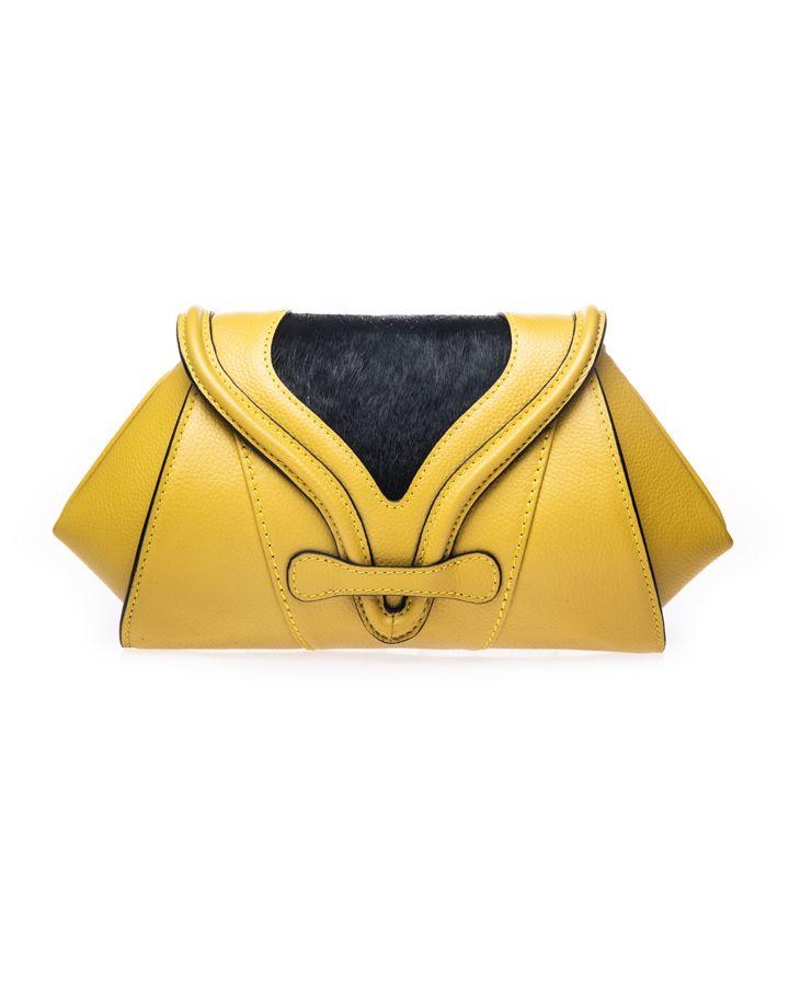 Yellow Clutch Bag | SOKA