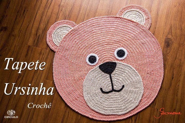 """Olá pessoal na aula de hoje temos um lindo tapete de crochê infantil - """"Tapete Ursinha Lívia""""  vamos fazer? utilizei os fios Barroco Candy Colors da Círculo S/A  https://youtu.be/wRctrYDPw10 #crochet #professorasimone #semprecirculo #candyColors #croch"""