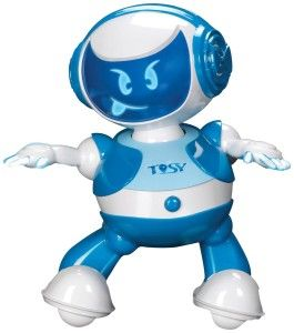 DiscoRobo Toy with Voice-Blue It dances to the beat and has 56 dance moves and 8 lively facial expressions. http://awsomegadgetsandtoysforgirlsandboys.com/tosy-robotics-discorobo/ TOSY Robotics: DiscoRobo Toy with Voice-Blue
