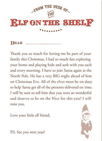 Best 25 elf goodbye letter ideas on pinterest goodbye letter the best ways to say hello goodbye to your elf on the shelf pronofoot35fo Images