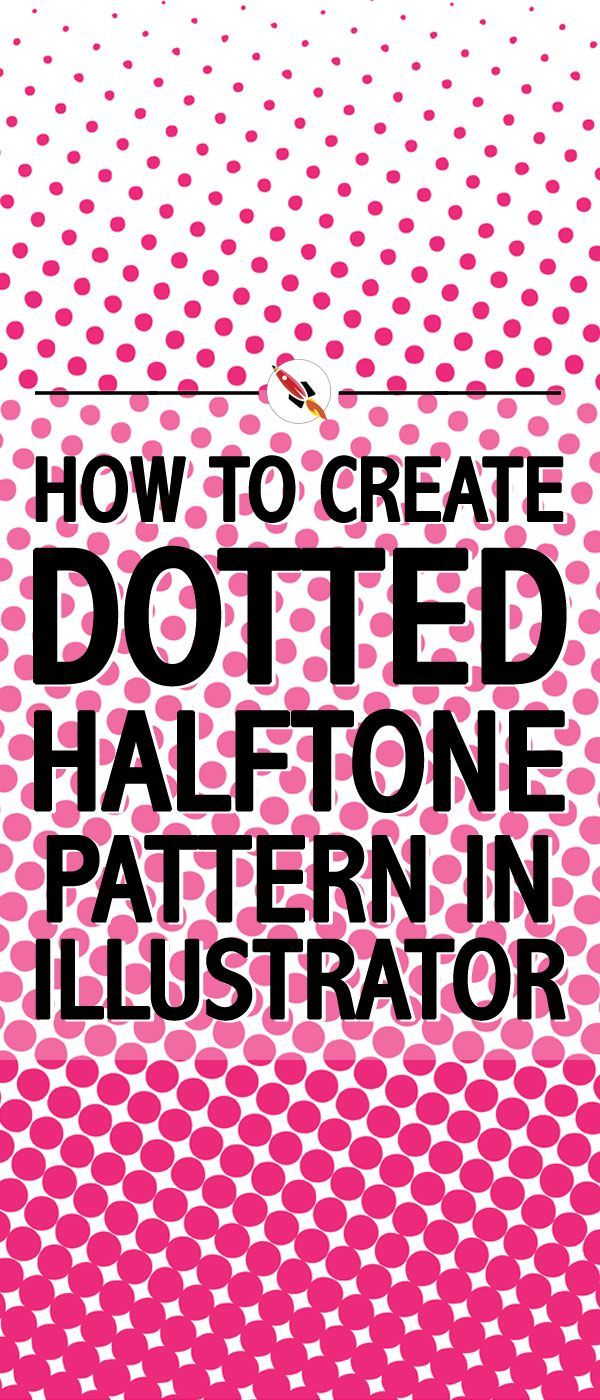 Simple and easy guide to create a dotted halftone pattern in illustrator.
