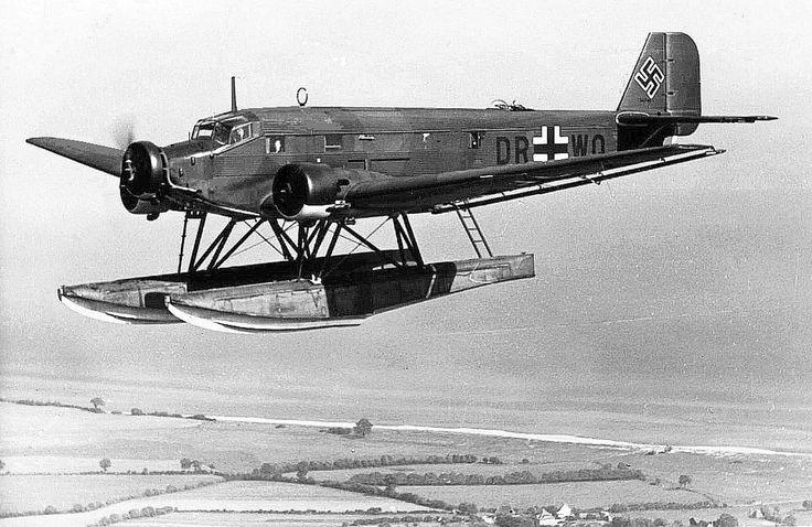 A Ju 52 transport modified into a seaplane for coastal supply service.