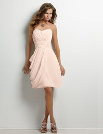 Omg this is the dress my bridesmaids got! Lol go figure. It looks great in person as well as the pic, I can say that for sure :)