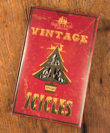 Love this Vintage Icicles Décor on #zulily! #zulilyfinds