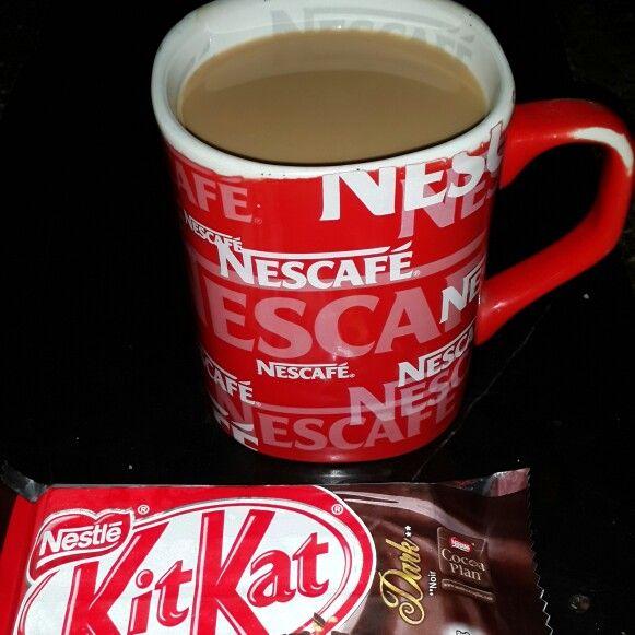 When dark kitkat joins hot nescafe ...
