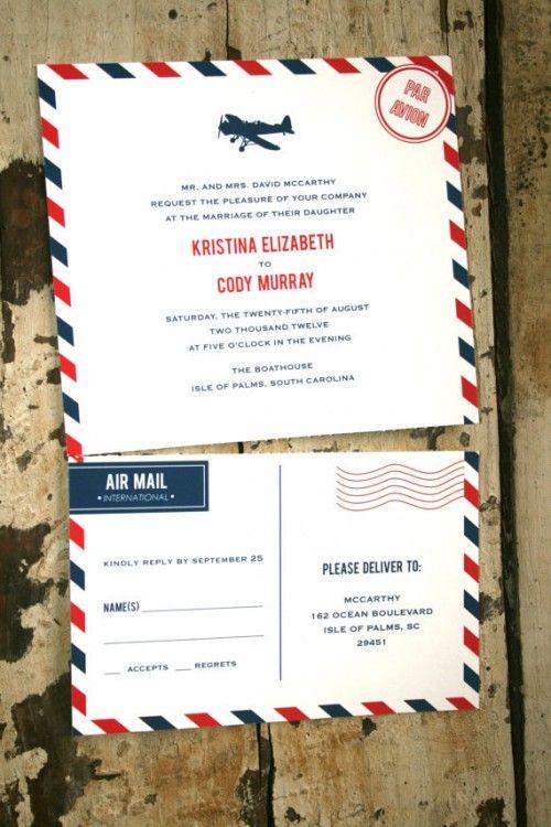 Airplane Wedding Invitation
