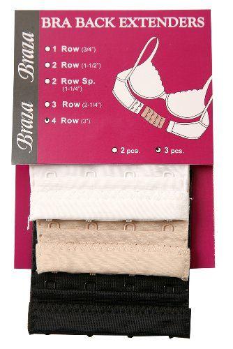 Braza 4-Hook Bra Extender 3-Pack ** CONTINUE @ http://lingerie4everyone.com/store/braza-4-hook-bra-extender-3-pack/?b=0298