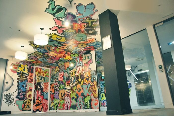 """Office Tour: Cool Graffiti Wordsearch At """"The World's Most Popular Search Engine""""   – New Diggs"""