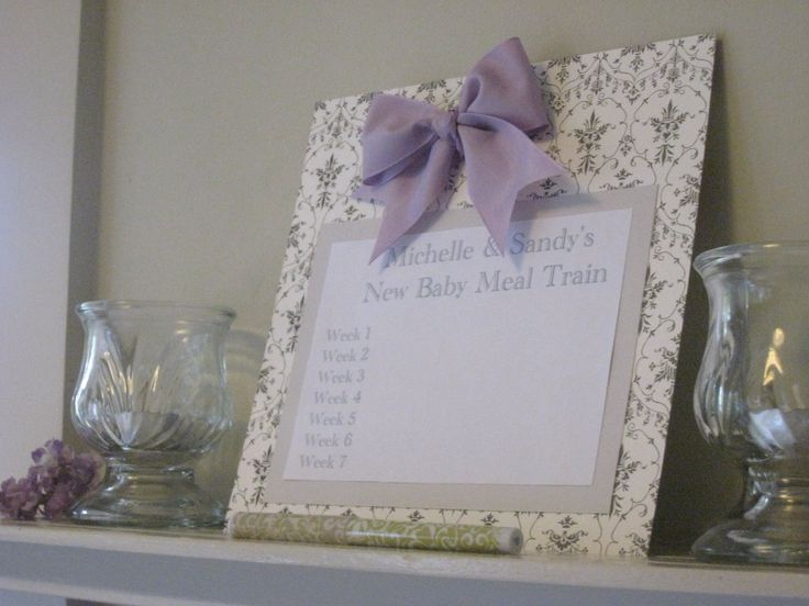 Sign Up List For Meal Train To Help New Family