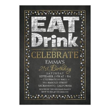 Personalized Adult 21st Birthday Party Invitations - birthday cards invitations party diy personalize customize celebration
