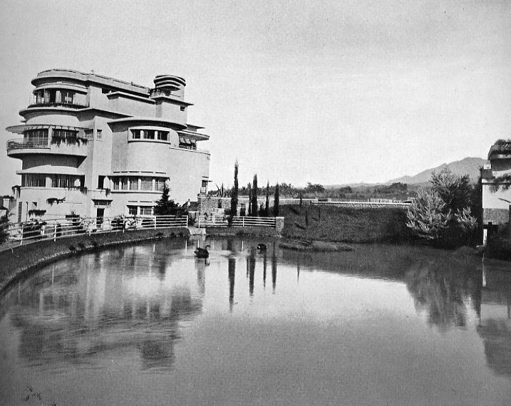 Pretty landscape at Villa Isola, 1930s