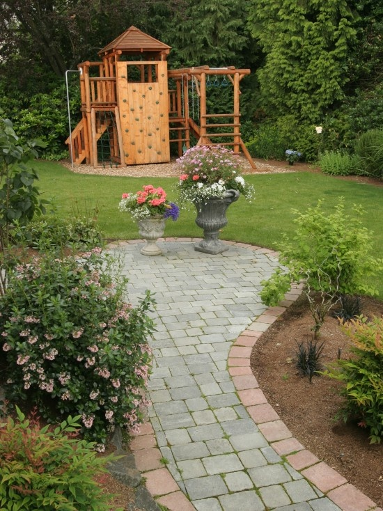 Play area and garden kids play area pinterest for Garden area ideas
