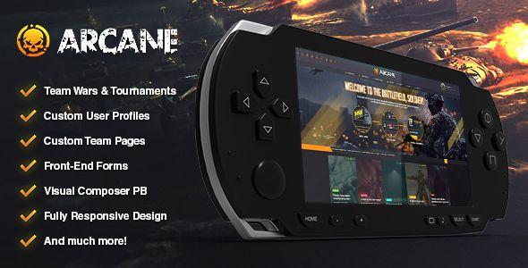 Wordpress Arcane - The Gaming Community Theme Download