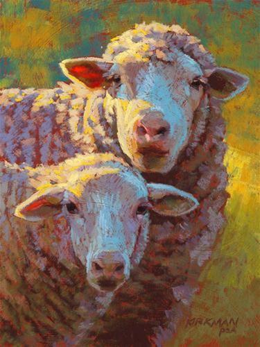 """Baa-bee and Maa"" - Original Fine Art for Sale - © Rita Kirkman"