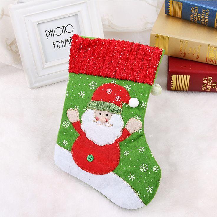 Только один подарок сумки подарок Снеговик носки рождественские носки Рождество орнамент конфеты сумка мешок