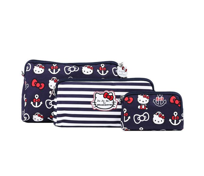 """Ju-Ju-Be x Hello Kitty Summer 2016 Collection """"Be Set"""" Set Of 3 Pouches in Out To Sea (Item # 59634-201607), $50 via Sanrio.Com (View #1 of 4)"""