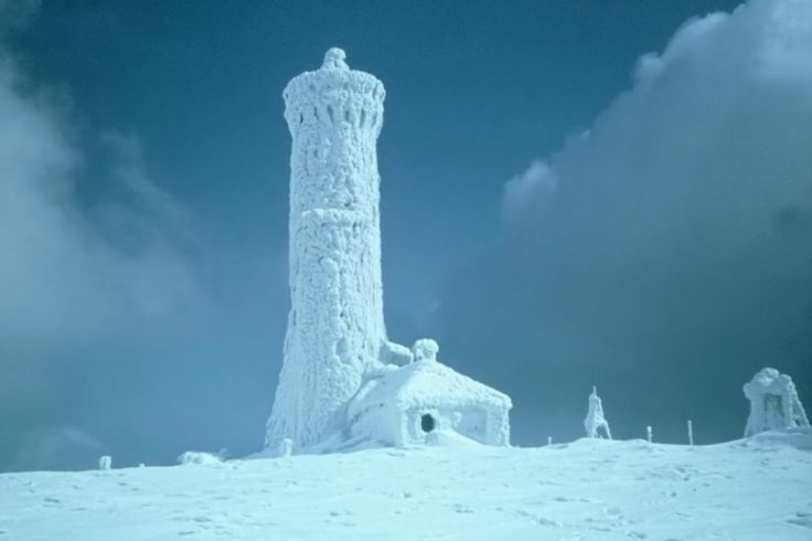 Śnieżnik zimą
