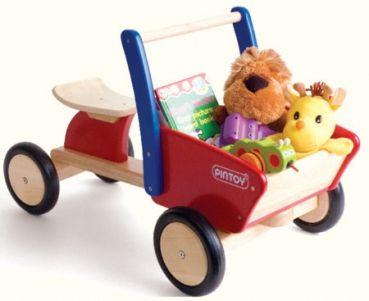 CARGO TRUCK von Pintoy - Rutschfahrzeug Holz - LKW Rutscher mit Kipplade