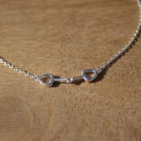 Mini Snaffle Silver Bracelet