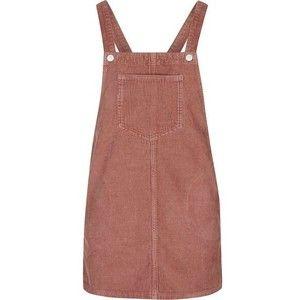 TopShop Petite Cord Pinafore Dress