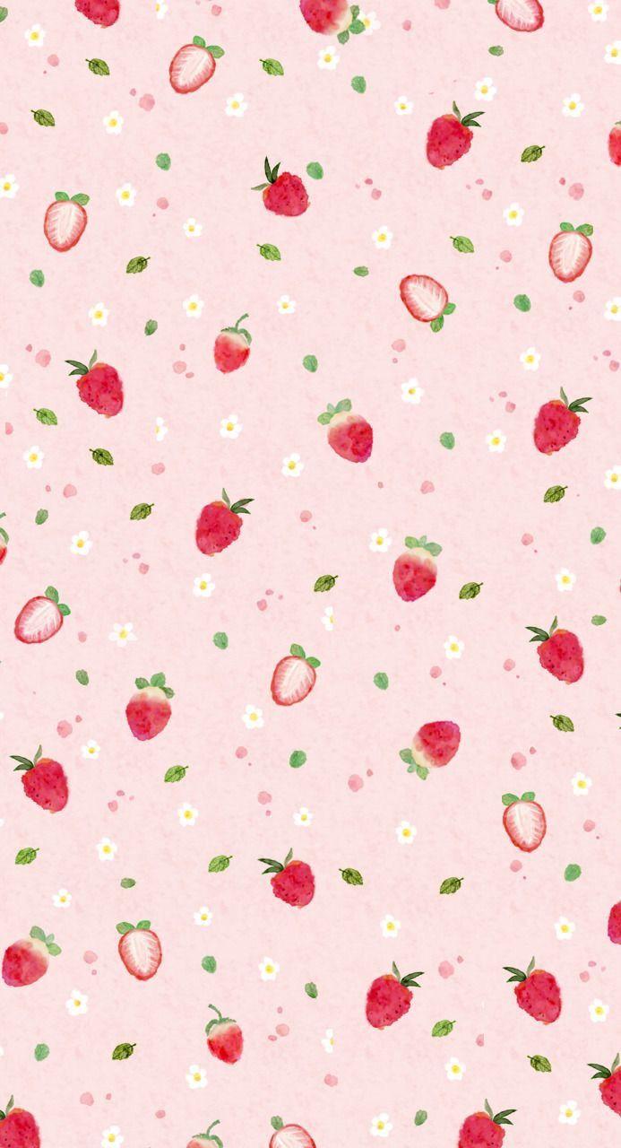 Strawberry Wallpaper Fruit Wallpaper Cute Wallpaper For Phone