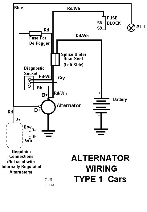 alternator wiring diagram 411 amps volts switch n. Black Bedroom Furniture Sets. Home Design Ideas