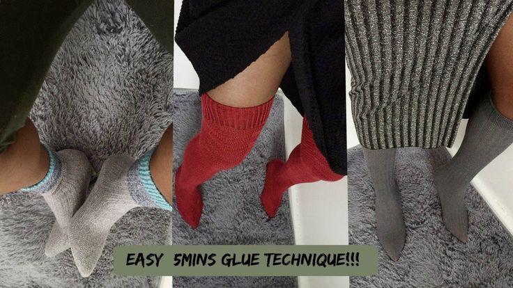 YEEZY DIY BOOTS EASY 5 MINS GLUE TECHNIQUE !!!
