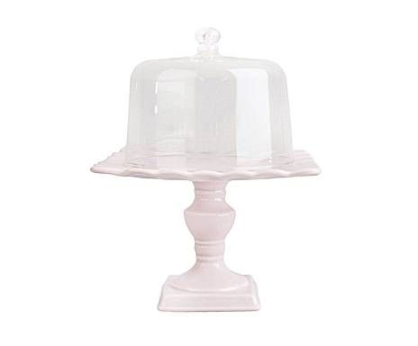 Accesorios de cocina y mesa: Campana de cerámica, baja - rosa