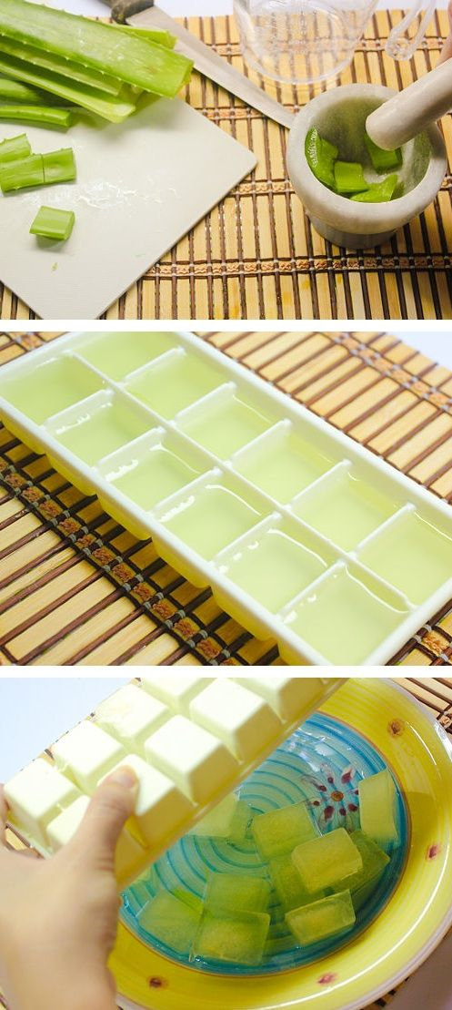 Soothing Aloe Vera Ice Cubes - The Frugal Female