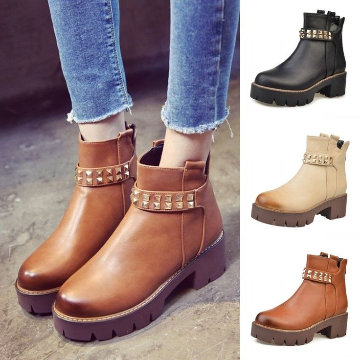 Women's Work Boots Winter Warm Casual Boot Lace Up Outdoor Waterproof Snow Boots
