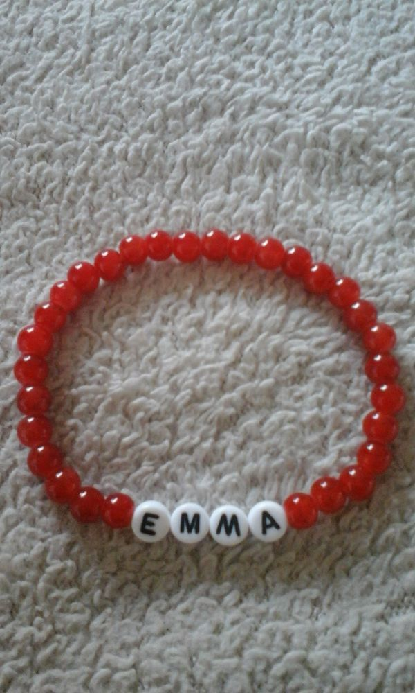 PERSONALISED HANDMADE NAME BRACELET, EMMA