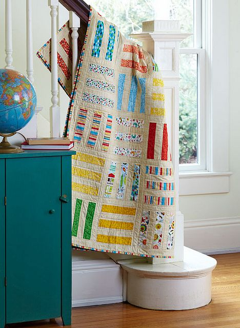 3 in a row by cherry house quilts, via Flickr. If I ever quilt or better yet but one of these someday:)