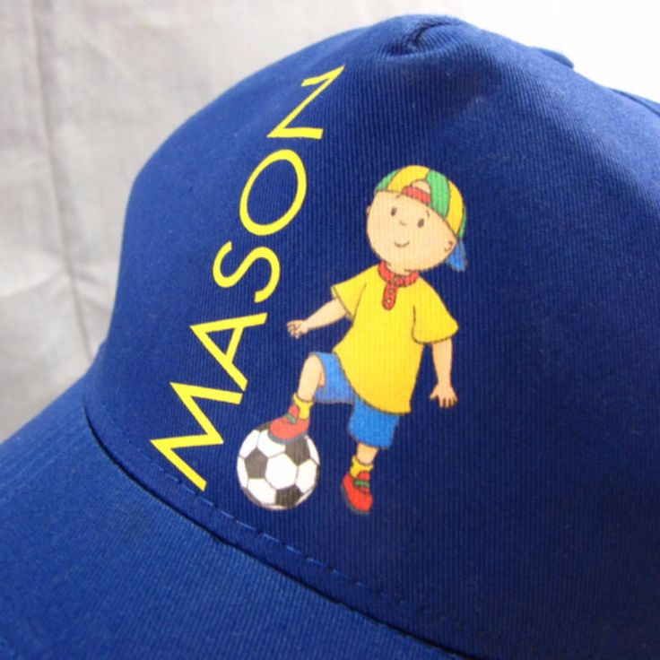 Caillou Mason Soccer Hat Adjustable Snapback Cap Blue Cartoon Character #Augusta #BaseballCap