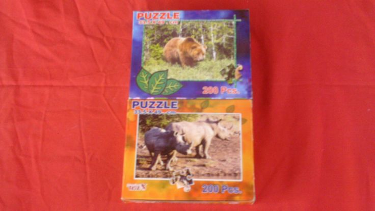 We have 4 amazing puzzles to build your child's education and focus their minds . The set consists of four two hundred piece puzzles and include an animal family of the Lion, Rhino, Tiger and Brown Bear. Each Puzzle consists off 200 Pcs and the size off the puzzle is 33.5x49cm(Product code PU1-4) Sold as a set only. Price includes vat and shipping charges. Subject to availability from supplier.