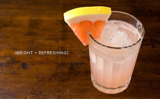 rhubarb + pomelo cocktail