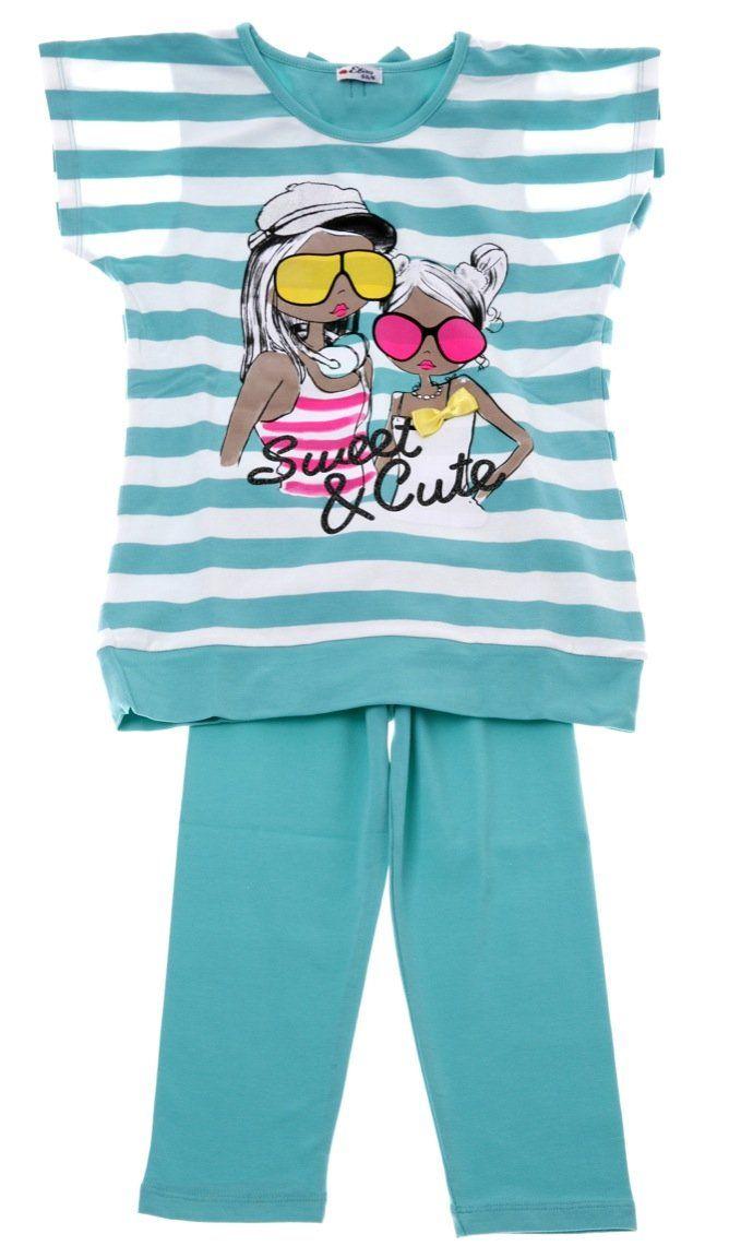 Εβίτα παιδικό σετ μπλούζα-παντελόνι κολάν κάπρι «Sweet & Cute»  €16,50