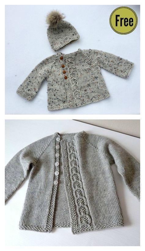 466767942 Olive You Baby Cardigan Free Knitting Pattern