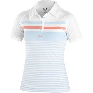 Oakley Cliff Polo Women's Short-Sleeve Sports Wear Shirt - Aurora Blue / Medium by Oakley. $65.00. It's a laid-back weekend and you're out with the girls to take in a friendly game. No reason not to beat the pants off them, and look good doing it. Classic stripes get the Oakley touch on our CLIFF POLO, and it's engineered with O-Form technology for resilient stretch and the comfort of moisture management. Along with movement-freeing raglan sleeves, the free fit stays close...