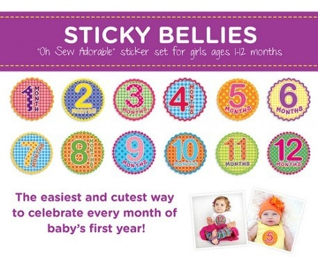Fantastic Baby Shower Gift - Do you see all those monthly baby photos and wish you had done or could do the same?  These great heavy duty stickers allow you to do it with style and ease.   Each month pop them on bubs clothes then take lot of photos.