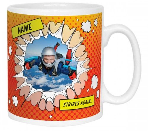 Comic Book Style Novelty Mugs