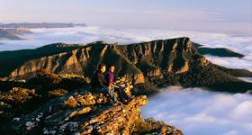 If you only have one day in the Grampians, the best locations to visit are:  • Boroka Lookout  • Reeds Lookout  • The Balconies  • MacKenzie Falls  For that extended stay consider visiting:  • Hollow Mountain  • Gulgurn Manja Shelter  • The Pinnacle  • Silverband Falls  • Mount William  • Mount Abrupt