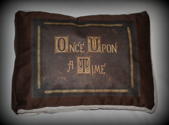 Once Upon A Time Story Book Throw Pillow by BrulezRulez on Etsy, $25.00 <3