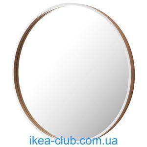 ИКЕА, IKEA, СКОГСВОГ, 302.893.87, Зеркало, белый, буковый шпон, 50 см