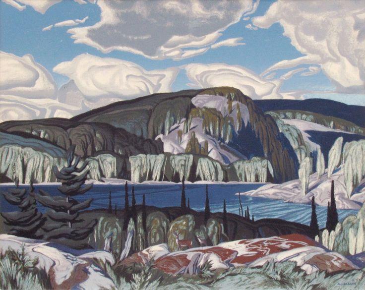 ALGONQUIN PROVINCIAL PARK SILKSCREEN by artist Alfred Joseph Casson