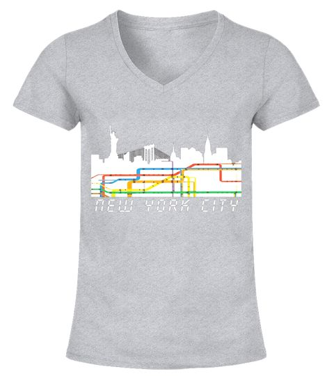 New York City Subway Map Skyline T Shirt - Retro NYC Tee . Special Offer 5b34cf007af