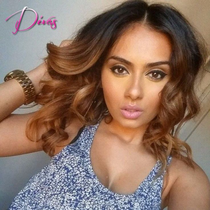 Fashion body wave ombre wig with baby hair 130%density high quality brazilian wig best selling human hair lace front wig US $93.40