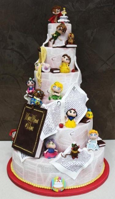 bolo de noiva disney