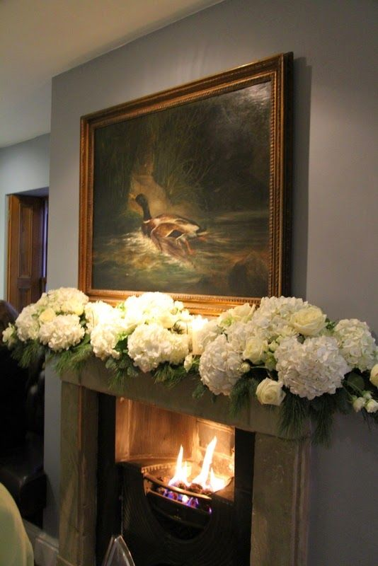 Beautiful fireplace arrangement